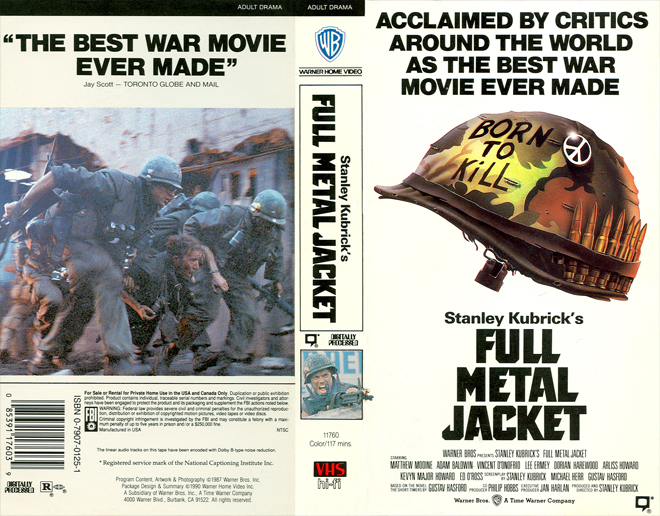 a review of stanley kubricks strangely shapeless movie full metal jacket