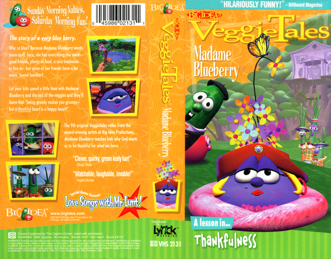Veggie tales madame blueberry vhs covers vhs cover